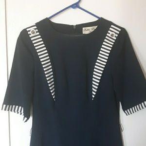 Vintage style nautical wiggle dress